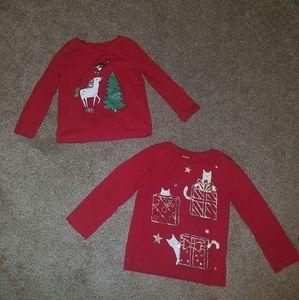Carter's Baby Girl Long Sleeve Shirt Bundle